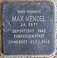Stolperstein Arnstadt Ried 7-Max Mendel.JPG