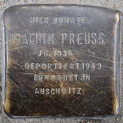 Photo of Joachim Preuss brass plaque