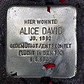 Stolperstein Ludwigkirchstr 10a (Wilmd) Alice David.jpg