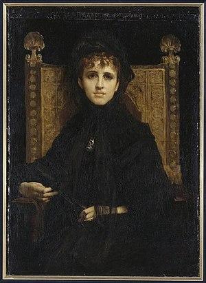 Geneviève Halévy - Portrait of Mme Georges Bizet, née Geneviève Halévy, by Jules-Élie Delaunay, in Musée d'Orsay (1878)