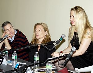 "Darin Strauss - Strauss, Kathryn Harrison and Elizabeth Wurtzel on a panel entitled ""Exposing A Difficult Past"" at the 2010 Brooklyn Book Festival."