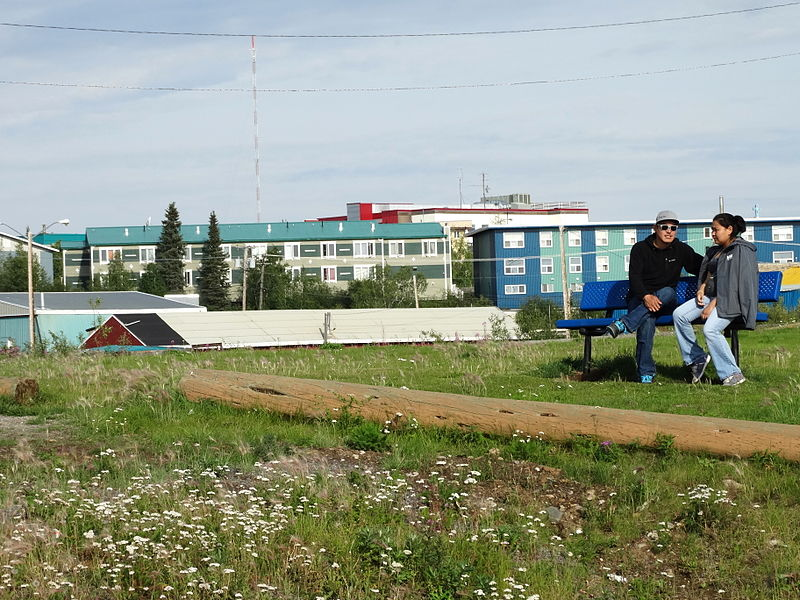 File:Street Scene with Couple - Inuvik - Northwest Territories - Canada.jpg