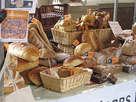 Bread loaves in the farmers' market StroudBread.jpg