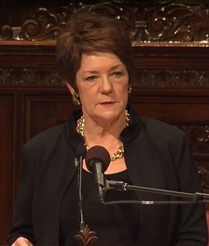 Sue Monk Kidd - Sue Monk Kidd speaks at Westminster Town Hall Forum in 2014.