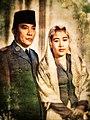 Sukarno and Fatmawati (colored).jpg