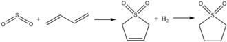 Sulfolane - Image: Sulfolanesynthesis