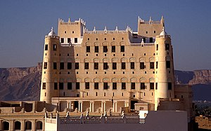 The Sultan Al Kathiri Palace, the most prominent landmark of Seiyun.