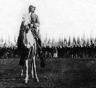 Arab nationalism - Syrian rebel leader Hilal al-Atrash at a ceremony marking a prisoner exchange with the French Mandate authorities during the Great Syrian Revolt, 1925