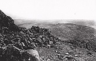 Battle of Nebi Samwil - View from the summit of Nebi Samwil, after the battle