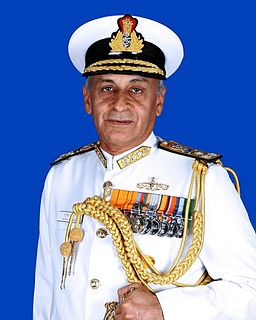Sunil Lanba Current chief of the Indian Navy