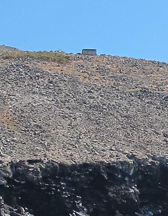 Redonda - A small stone hut on the top of the island dates from the days when guano was mined there.