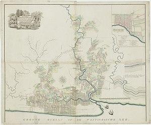 History of Suriname - Plantations in Suriname around 1800.