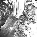 Surprise Glacier, valley glacier terminus, hanging glacier on the right, September 1, 1978 (GLACIERS 5064).jpg
