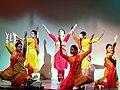 Sushmita Banerjee performing with her students.jpg