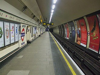 Swiss Cottage tube station - Image: Swiss Cottage stn westbound look east