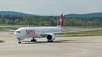 Swiss Global Air Lines B777 HB-JNC at LSZH (26901450842).jpg