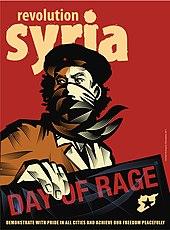 Plakat o wojnie domowej w Syrii