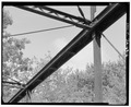 TOP CONNECTIONS, FROM SOUTHEAST - Pine Mill Bridge, Spanning Pine Creek, Muscatine, Muscatine County, IA HAER IOWA,70-MUSCA.V,2-6.tif
