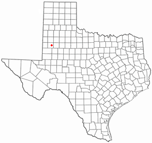 Brownfield, Texas - Image: TX Map doton Brownfield