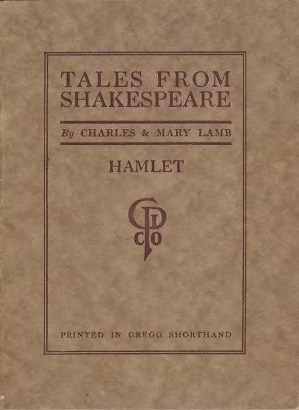 File:Tales From Shakespeare - Hamlet - Printed in Gregg