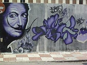 English: Taller de Graffiti 2007 detrás de la ...