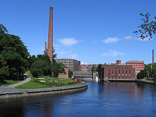 channel of rapids in Tampere, Finland