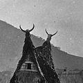 Tanduk di rumah tradisional batak di deli serdang.jpg