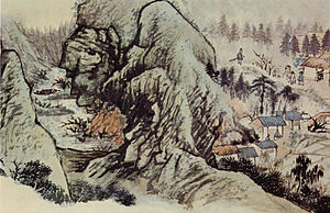 Tao Chi (painter) - Tao Chi, Source of the Peach Bloom, Freer Gallery of Art