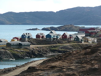 Irminger Sea - The South East Greenland town of Tasiilaq is located on the coast of the Irminger Sea
