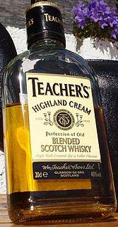 Teachers Highland Cream brand of blended Scotch whisky