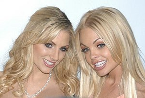 Jesse Jane - Jesse Jane with Teagan Presley at the premiere of Island Fever 4 in 2006
