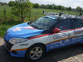 Team car Wanty-Groupe Gobert-ParisRoubaix2014.JPG
