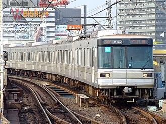 Tokyo Metro Hibiya Line - A Tokyo Metro 03 series EMU on the Hibiya Line