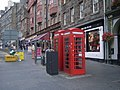 Telephone boxes outside Deacon Brodie's Tavern - geograph.org.uk - 973127.jpg