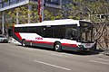 Telford's (TV 7514) Custom Coaches 'CB60 Evo II' bodied Mercedes-Benz OH1830LE parked in Dawn Fraser Ave at Sydney Olympic Park.jpg