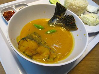 Malay cuisine - Tempoyak ikan patin, pangasius fish in fermented durian sauce