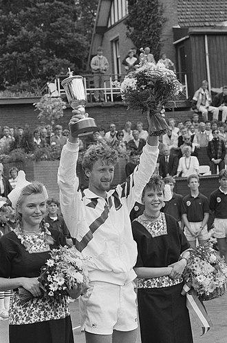 Dutch Open (tennis) - Miloslav Mecir, after winning the 1987 tournament