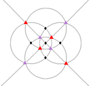 Polyhedral group - Image: Tetrakis hexahedron stereographic D4 gyrations
