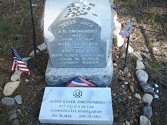 Texas Jack Omohundro - The grave of Texas Jack in Evergreen Cemetery