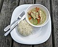 Thai green chicken curry at Highgate Cricket Club, Crouch End, London 1.jpg