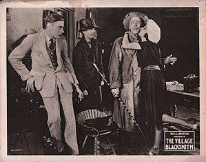The Village Blacksmith (film) - Lobby card for the film.