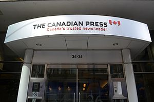 The Canadian Press - The Canadian Press head office on King Street in Toronto.