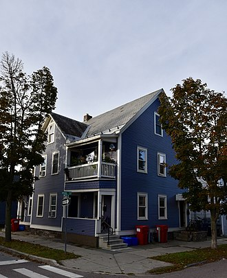 National Register of Historic Places listings in Chittenden County, Vermont - Image: The Apartments at 27 and 31 Peru Street