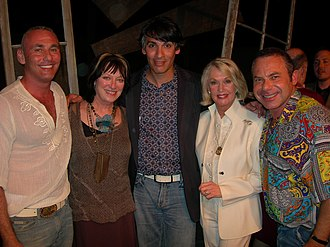 Tippi Hedren - Shambala benefit stage production of The Birds in Hollywood, California. (L-R) Shambala supporter Don Norte, Veronica Cartwright, playwright David Cerda, Tippi Hedren and Shambala supporter Kevin Norte, 2006