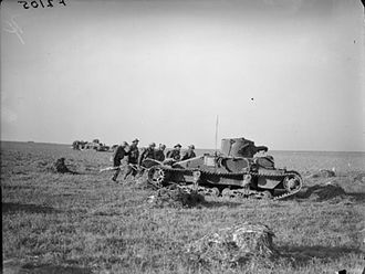 North Staffordshire Regiment - Troops of the 2nd Battalion on exercise with the Royal Tank Regiment in France, 1940