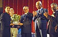 The Chairman, Atomic Energy Commission, Dr. Anil Kakodkar presenting the distinguished Aluminous Award to the Director, National Film Archives of India, Pune, Shri Vijay Jadhav.jpg