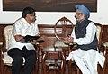 The Chief Minister of Karnataka, Shri Jagadish Shettar calling on the Prime Minister, Dr. Manmohan Singh, in New Delhi on July 17, 2012.jpg