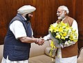 The Chief Minister of Punjab, Captain Amarinder Singh calling on the Prime Minister, Shri Narendra Modi, in New Delhi on March 22, 2017.jpg