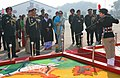 The Chief of Army Staff, Gen. V.K. Singh inspecting the flag area during his visit to NCC Republic Day Camp-2012, in New Delhi on January 10, 2012.jpg