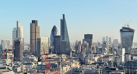 The City of London skyline in December 2013